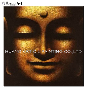 Excellent Quality Impression Indian Buddha Portrait Oil Painting On Canvas Handmade Decor Abstract Buddha's Head Oil Picture
