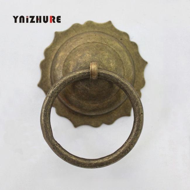 Chinese Antique Bronze Copper Canister Lid Handle Door Grip Handle