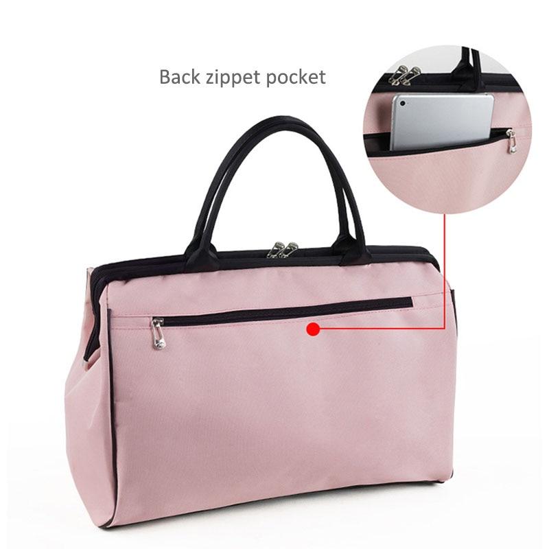 Women Overnight Weekend Traveling Bag Ladies Stripe Handbag Big Travel Bag Light Luggage Men Foldable Duffle Bags Korean XA637WB