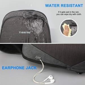 "Image 3 - Tigernu Anti theft Crossbody Bag Casual Men Chest Bag Waterproof  Male Sling Bag Messenger Bag Fit 9.7"" IPad for Teenager"