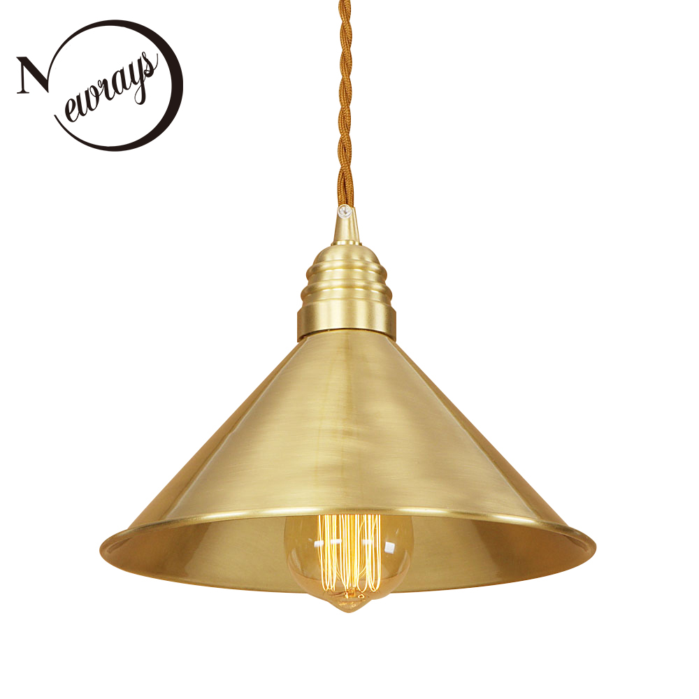 Modern iron painted brass personality pendant lamp 220V E27 LED indoor hanging light fixture restaurant bedroom living room path new retro iron and glass pendant lights loft vintage lamp restaurant bedroom living room e27 pendant lamp hanging light fixture