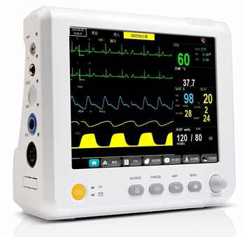 8 Inch Patient Monitor with ECG NIBP SPO2 Temperature and ETCO2/CO2 ICU CCU Hospital ambulance family vital signs monitoring - DISCOUNT ITEM  10% OFF All Category