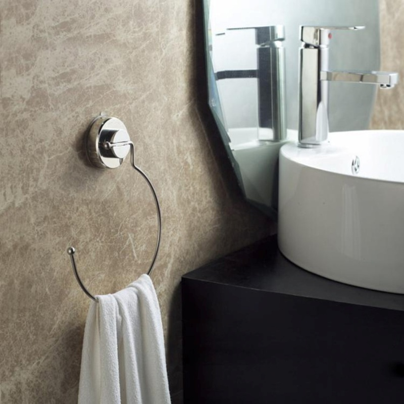 Ring Shape Vacuum Suction Cup Towel Shelf Stainless Steel Suction Cup No Trace Installation Bathroom Towel Holder Rack Bar postmodern simple bedside wall lamp nordic creative cafe bar livingroom bedroom aisle background decoration lamp free shipping