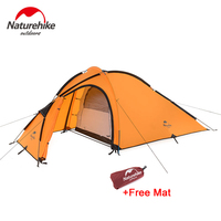 Naturehike Hiby Family Tent 20D Silicone Fabric Waterproof Double Layer 2 Person 3 Season Camping Tent