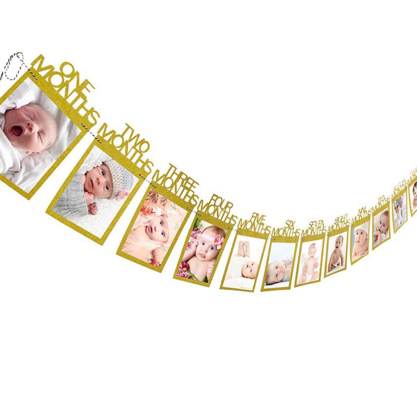 Decoraciones Regalo de Cumpleaños 1 12 meses foto Banner porta ...