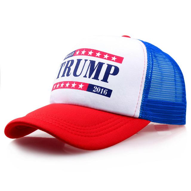 Fazer a América Grande de Novo Chapéu Da Forma Chapéu Do Camionista para Homens Chapéus de Donald Trump 2017 Política Republicana Malha Tampão de Golfe Patriota