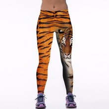 New 037 Sexy Girl Jogging Leggings Comics Animal Tiger Stripes Beast Prints High Waist Running Fitness Sport Women Yoga Pants