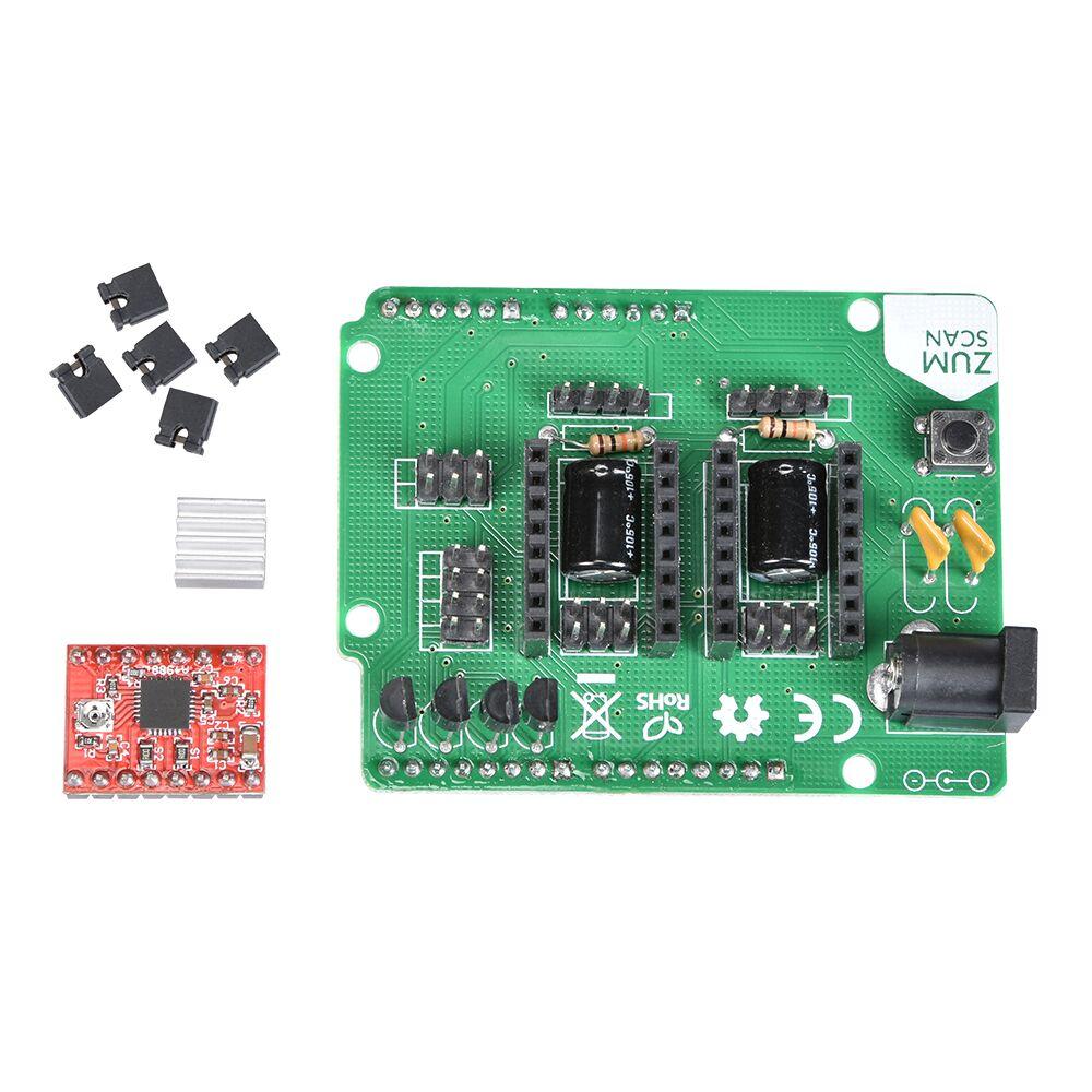 3D Scanner Bord Kits Open Source ZUM Scan Erweiterungskarte + UNO Controller Board + A4988 Fahrer Ciclop 3D Scanner