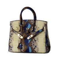 Real Genuine leather bags with lock crocodile snake skin handbag fashion designer brand high quality shoulder bags ladies tote