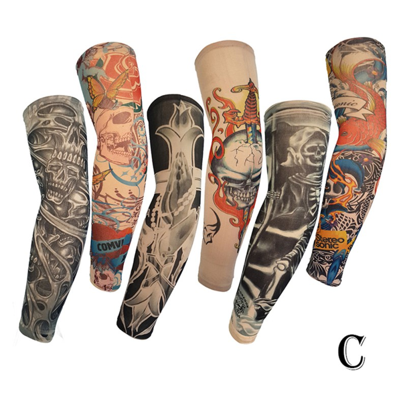Men's Arm Warmers Professional Sale Anti-sunshine Fashion Men And Women Tattoo Arm Leg Sleeves High Elastic Nylon Halloween Party Dance Party Tattoo Sleeve