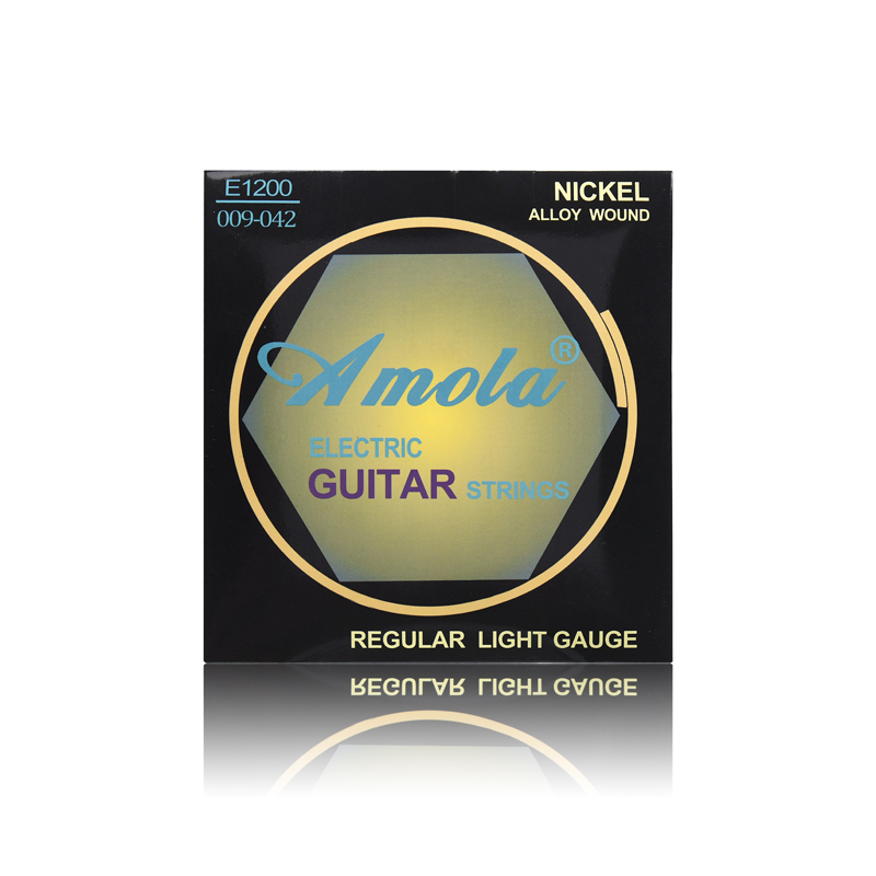 Original Amola 009 010 Regular Light Gauge Nickel Alloy Wound Electric Guitar Strings E1300 1 Sets