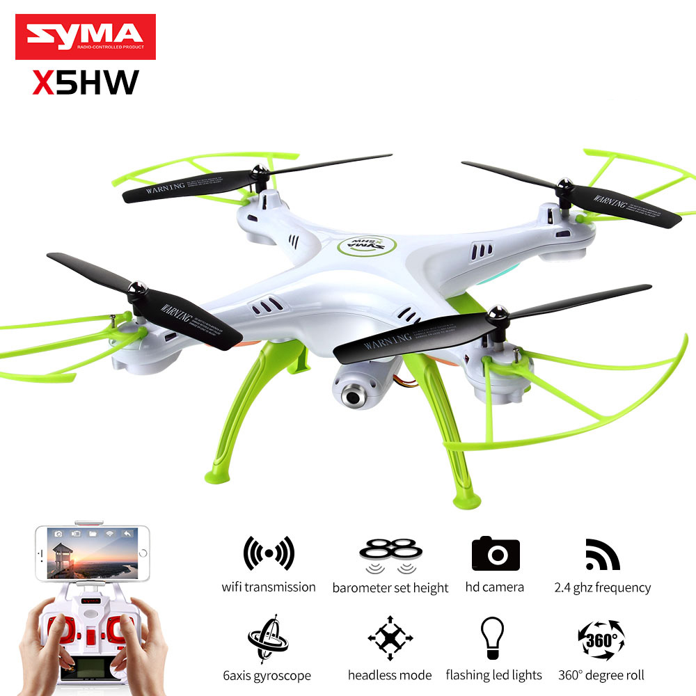 SYMA X5HW RC Quadrocopter Drone With Camera Wifi FPV HD Real-time Transmit RC Helicopter Quadcopter Dron Drones Toy Hover syma quadcopter high tech new 2 4g altitude hd camera rc drone 0 3mp wifi fpv live helicopter hover quadcopter drone may