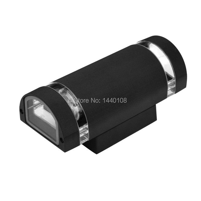 5 pcs/lot 8 W GU10 E27 lumière extérieure Led en aluminium haut et bas lampes murales étanche porche appliques IP65 Lumières externes 110-240 V