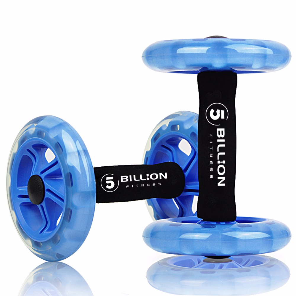 5-BILLION Ab Wheels Abdominal Exercise Rollers For Core Trainer Strength Exercise Crossfit Gym Body Fitness Double-Wheeled