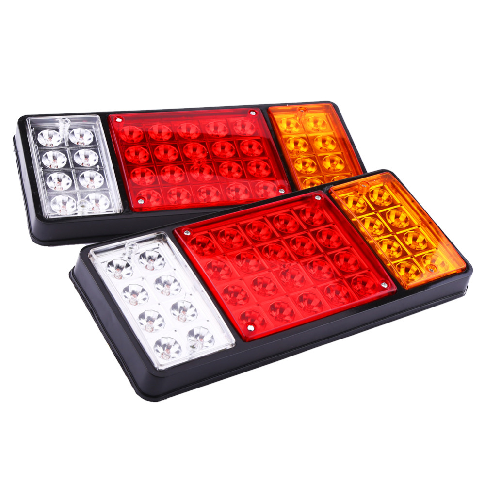 1 pair 12V 36 Tail Brake Light LED Tail Lights Rear Brake Lamp Stop Turn Indicator For Car Truck Trailers Van Reverse Indicator