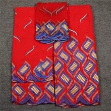 3 в 1 швейцарской кружевной ткани 2018 самый тяжелый вышивка бисером Африканский хлопок ткани швейцарская вуаль кружева популярные Дубай Стиль HL06265