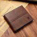 Classic vintage hombres de cuero bogesi billetera marca diseñador corto sólido delgada dólar monedero masculino billetera bolsa de dinero monederos hombre