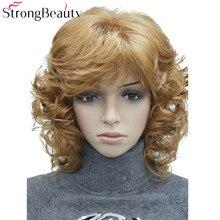 Cheveux synthétiques pour femmes cheveux blonds/noirs/bordeaux de nombreuses couleurs pour choisir