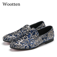 plus size loafers glitter dress brand luxury social designer driving adult fashion mens shoes casual #107