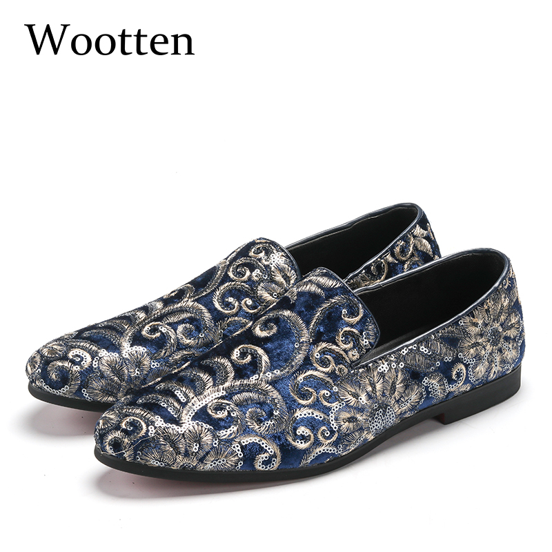 plus size loafers glitter dress brand luxury social designer driving adult fashion mens shoes casual #107 цена