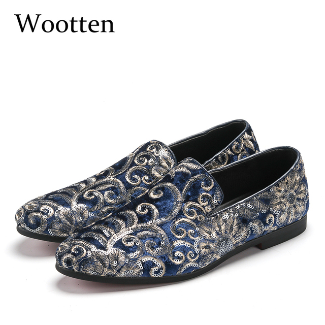0b4d88db2a plus size loafers glitter dress brand luxury social designer driving adult  fashion mens shoes casual #107-in Men's Casual Shoes from Shoes on ...