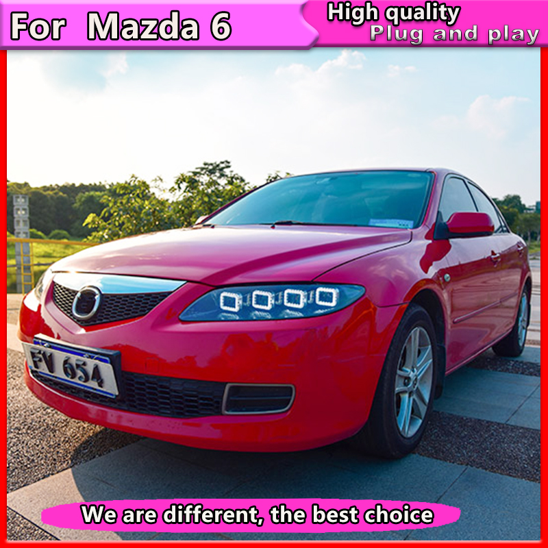 Car Styling For Mazda 6 Headlights 2004 2012 Mazda 6 LED