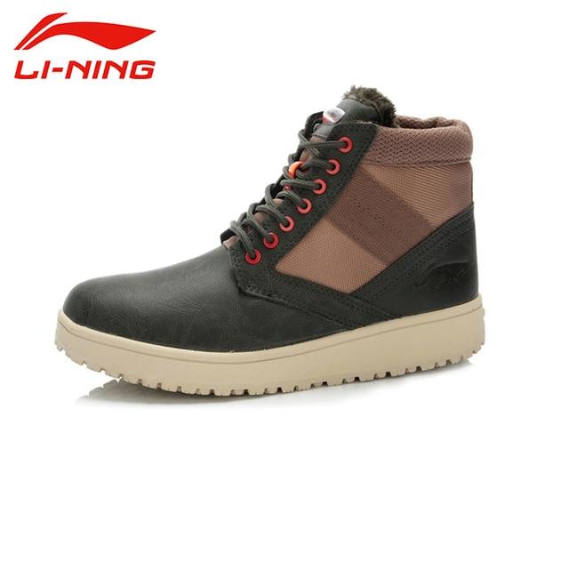 LI-NING Outdoor Winter Keep Warm Skidproof Lceloc&Warm Shell Technology Sport Shoes Sneakers Walking Shoes Men ALAJ067 XMR1065