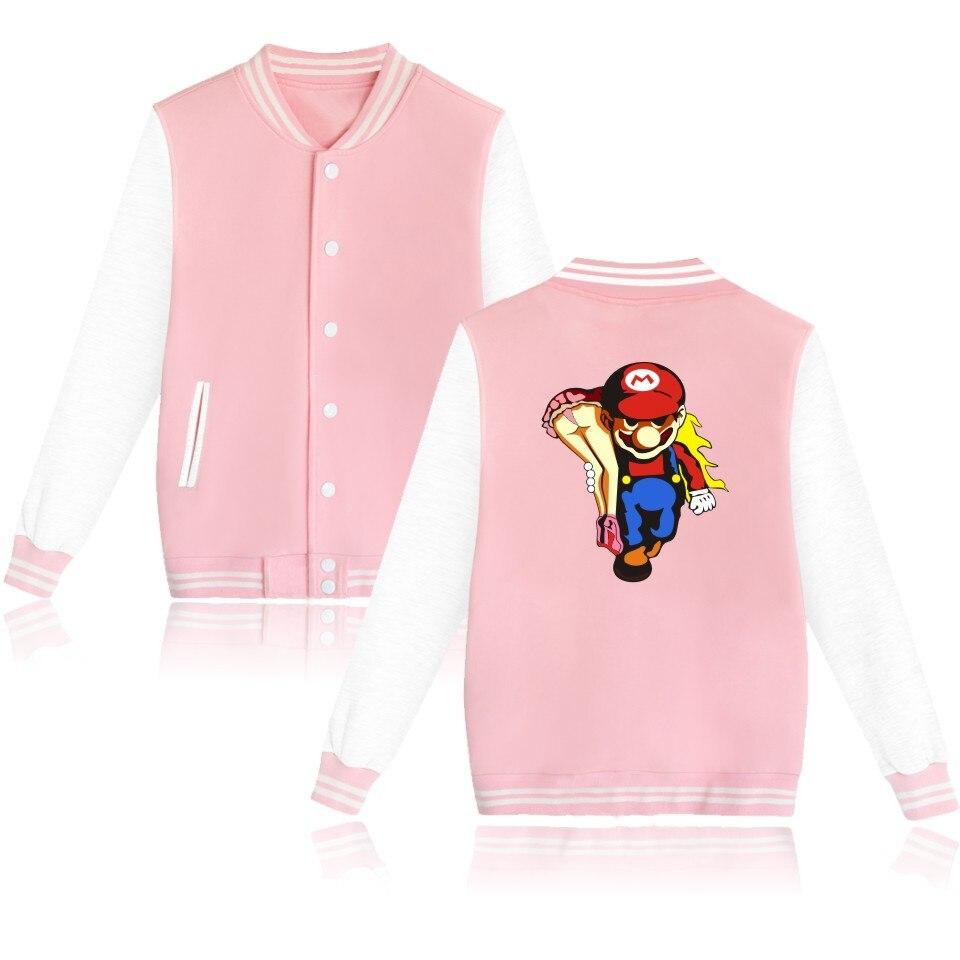 Супер mariorun Бейсбол Куртки стеганая куртка Женская зимняя обувь куртка осень Лидер продаж Повседневное Пальто XXS до 4xl
