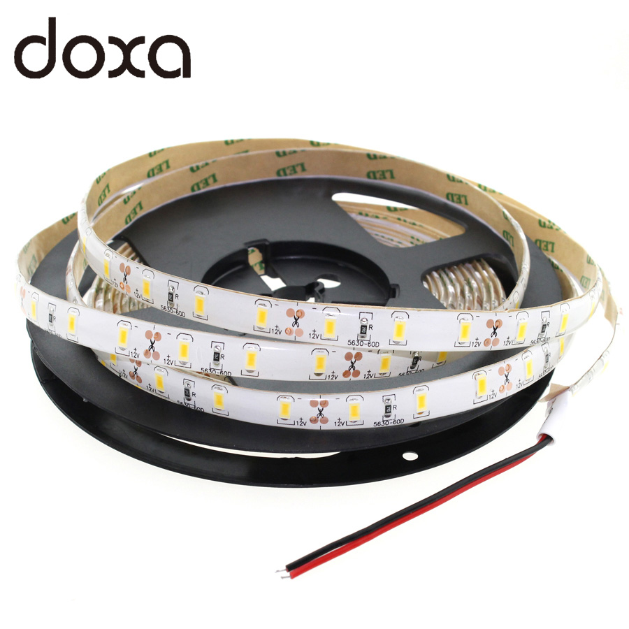 Free shipping SMD2835/3528 12V 60Leds/m Waterproof LED Strip 1m/2m/3m/4m/5m White/Blue/RGB More Colors Flexible LED Light 0 9m smd 3528 90 leds waterproof led rope light festival lighting