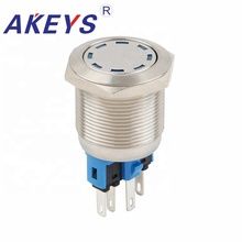 2pcs PX22A-P11Z-DD Waterproof High Flush Push Button Switch 22mm LED Lighted Power