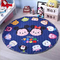 Lovely Cartoon Mouse Pattern Multifunction Round Baby Play Mats Nonskid Crawling Rug Carpet Blanket Pad Kids Toys Storage Bag