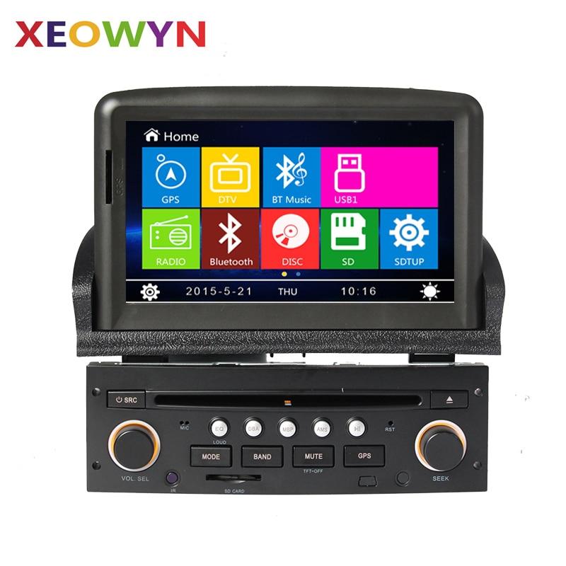 car dvd player gps navigation system for peugeot 307 2007 2008 2009 2010 2011 bluetooth radio. Black Bedroom Furniture Sets. Home Design Ideas