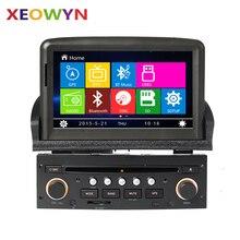 Reproductor de DVD del coche Sistema de Navegación GPS para Peugeot 307 2007 2008 2009 2010 2011 Radio Bluetooth USB Libre Mapa