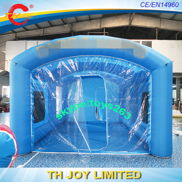 blue color 6x4x3m inflatable car painting booth tent / inflatable spray booth for car paint / & Aliexpress.com : Buy blue color 6x4x3m inflatable car painting ...