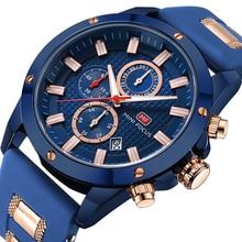 Для мужчин's Бизнес повседневные часы аналоговый Водостойкий силиконовый ремешок хронографы аналоговые светящиеся стрелки наручные для мужчин