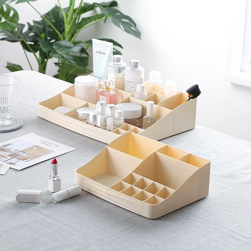 3 Colors Plastic Cosmetic Storage Box Drawer Jewelry Box Makeup Organizers Office Desktop Sundries Storage Container in Makeup Organizers from Home Garden
