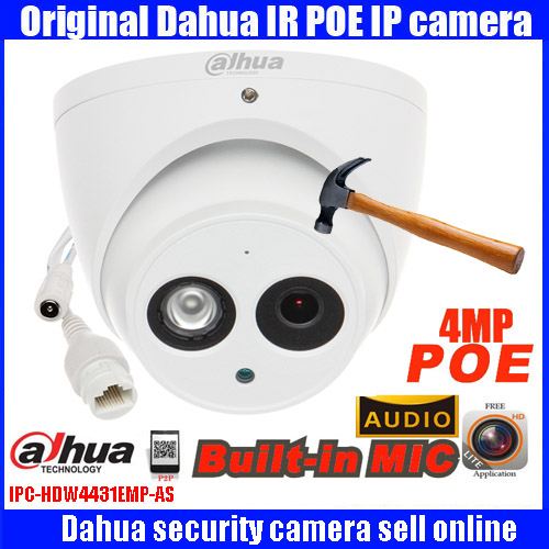 все цены на Dahua original DHI-IPC-HDW4431EM-AS 1080 high-definition security camera Dome infrared night vision 50M network CCTV camera онлайн