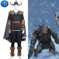 MANLUYUNXIAO Neuen männer Outfit Spiel Charakter Viking Krieger Kostüm Halloween Cosplay Kostüme für Männer Großhandel Nach Maß