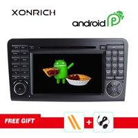 Xonrich Autoradio Double Din Android 9.0 Car DVD Player For Mercedes/Benz/GL ML W164 ML350 4GB RAM GPS Navi Radio Stereo DSP DAB