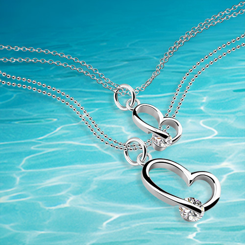 heart pendants  necklace,925 sterling silver women fashion necklace - Fine Jewelry - Photo 1