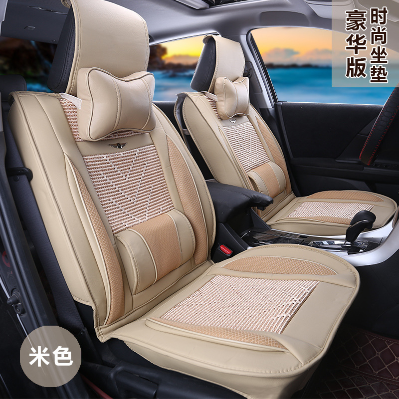 Universal Size Car Seat Cushion Pad Fit For Most Cars Lada Niva Solaris Ferramentas Auto 2017 Summer New Black Mesh Faux Leather