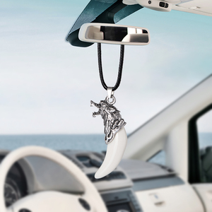 Image 3 - Car Pendant Simulation Wolf tooth Cars Rearview Mirror Decoration Auto Hanging Ornament Interior Accessories Gifts Car styling