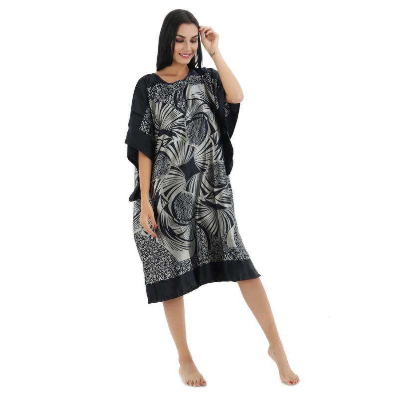 Women's Clothing Lounge Rayon Nightgown Large Loose Bating Sleeve Sleepwear Robe Lady Sexy Home Dress