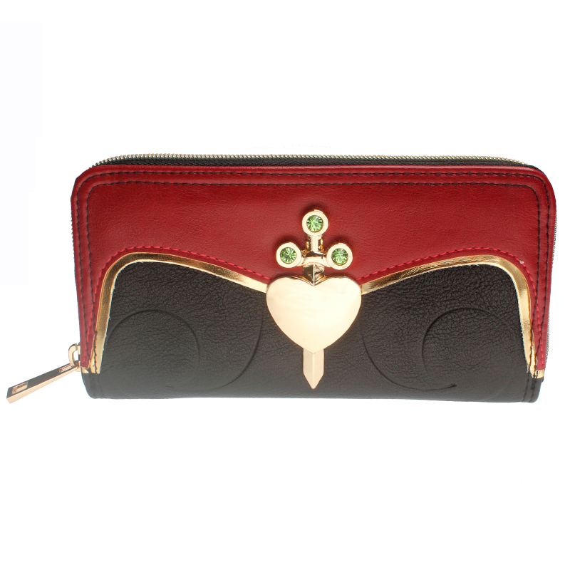 Snow White And The Seven Dwarfs Evil Queen Heart Box Womens Zip Around Wallet DFT-1992