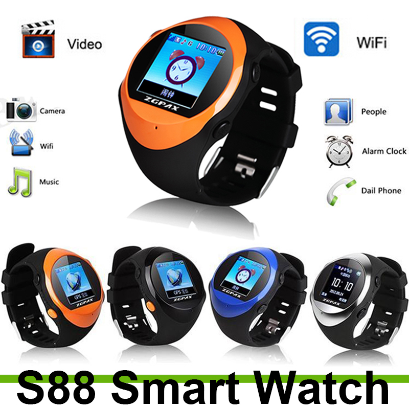 Slimy S888 2G GPS Smart Watch SOS Emergency Call Smartwatch GPS LBS Wifi Sport Intelligent Clock For Old Man Kids Hours Stock