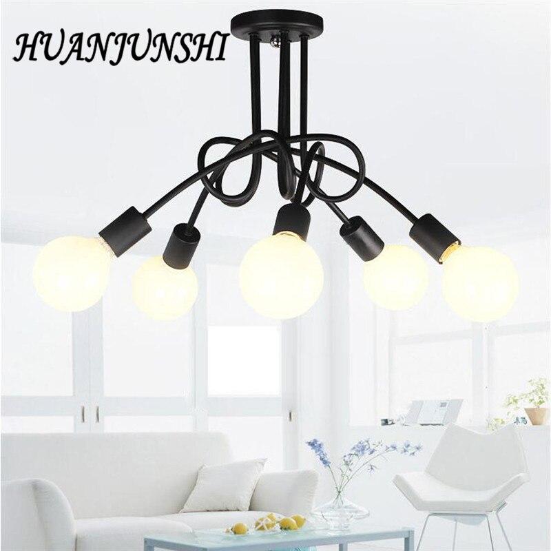5 heads Retro Vintage Pendant Lights Iron Lampshade Loft Pendant Lamps E27 110V 220V for Dinning Room Home Decoration Lighting цена и фото