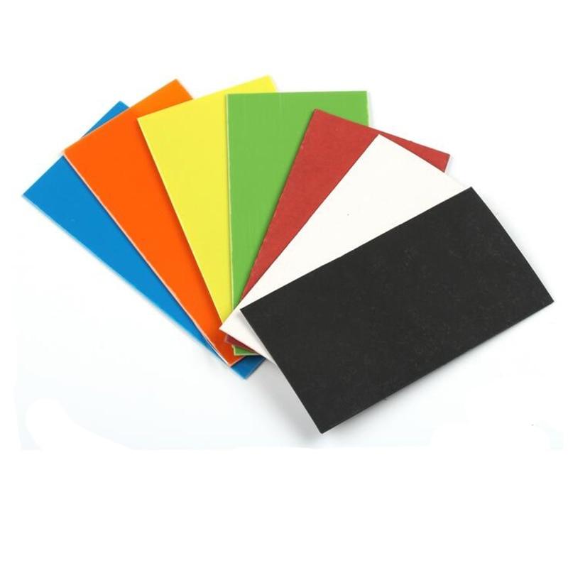 Handmade Knife Handle Gasket G10 glass fiber steel paper 150*80mm  1.5mm thickness Blue/green/Orange/yellow