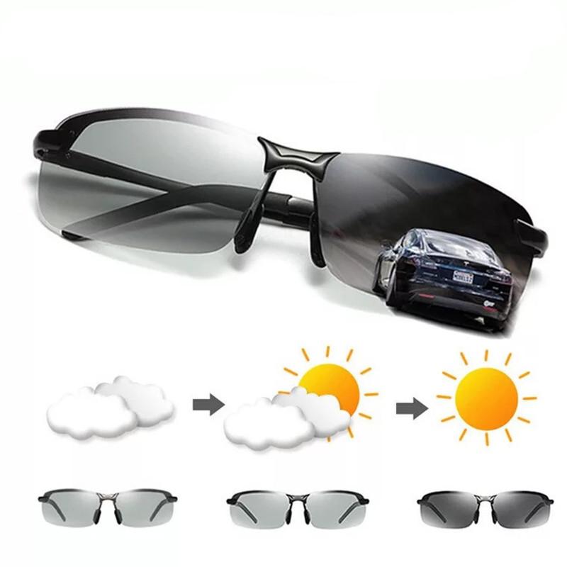 c7c3da8f215 Aluminium Magnesium Photochromic Sunglasses Chameleon Polarized Sun ...