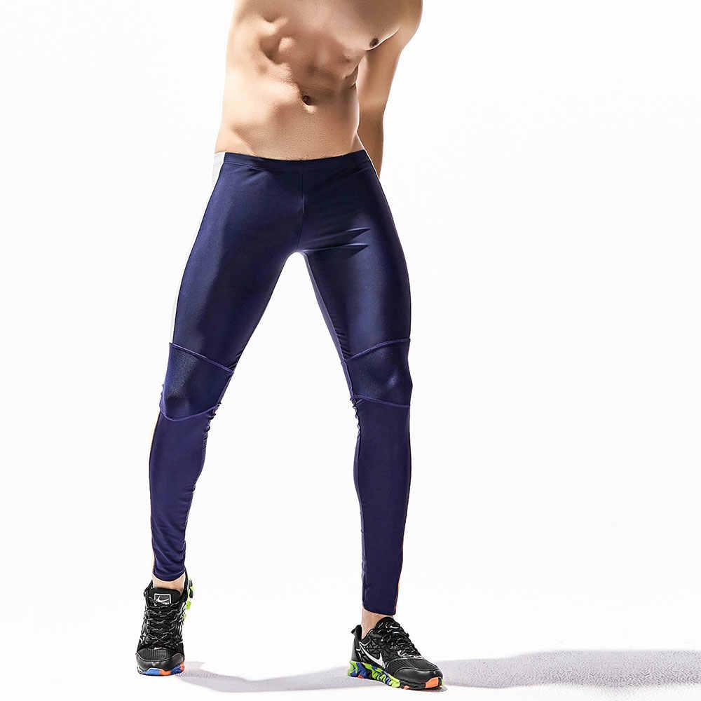 b1c9083e1f Men's Running long pants GYM Sport Pants Tight Skinny fitness Leggings Base  Layer elasticity Jogging Trousers Sweatpants Wear