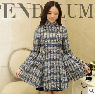 women jacket The new fall and winter coat Korean Slim big skirt wool coat Women s
